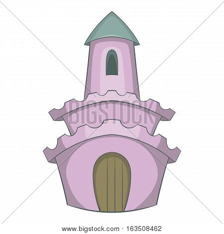 Fairytale castle icon. Cartoon illustration of castle vector icon for web design