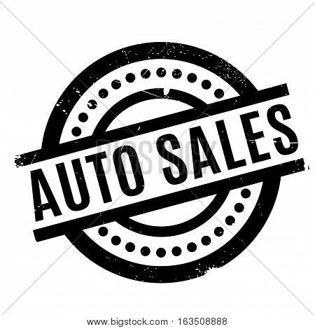 Auto Sales rubber stamp. Grunge design with dust scratches. Effects can be easily removed for a clean, crisp look. Color is easily changed.