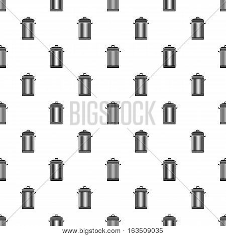 Trash can with lid pattern. Simple illustration of trash can with lid vector pattern for web