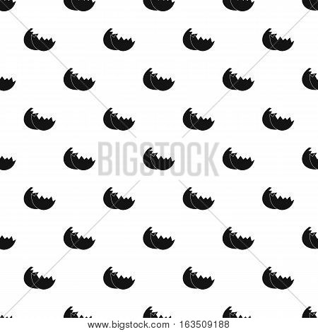 Shells from egg pattern. Simple illustration of shells from egg vector pattern for web
