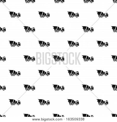 Truck mixer pattern. Simple illustration of truck mixer vector pattern for web
