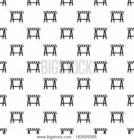 Prohibitory road sign pattern. Simple illustration of prohibitory road sign vector pattern for web