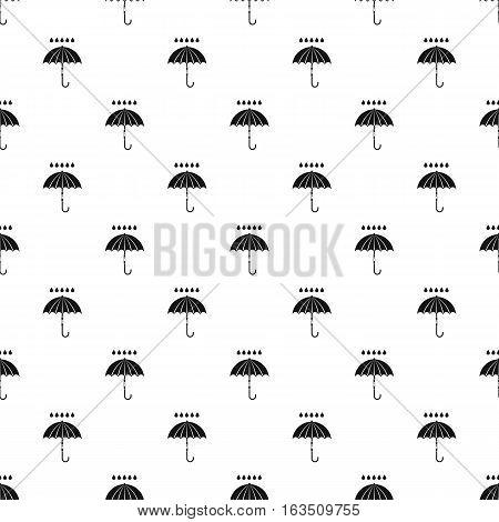 Umbrella and rain pattern. Simple illustration of umbrella and rain vector pattern for web