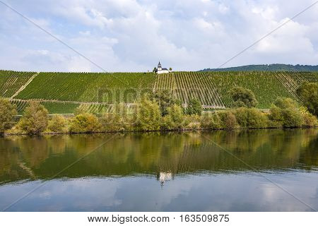 Chapel In Vineyard At River Moselle