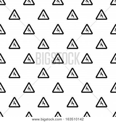 Sign caution deer pattern. Simple illustration of sign caution deer vector pattern for web