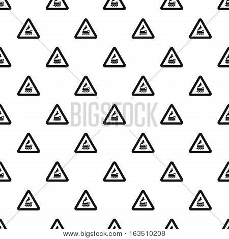 Sign railroad pattern. Simple illustration of sign railroad vector pattern for web