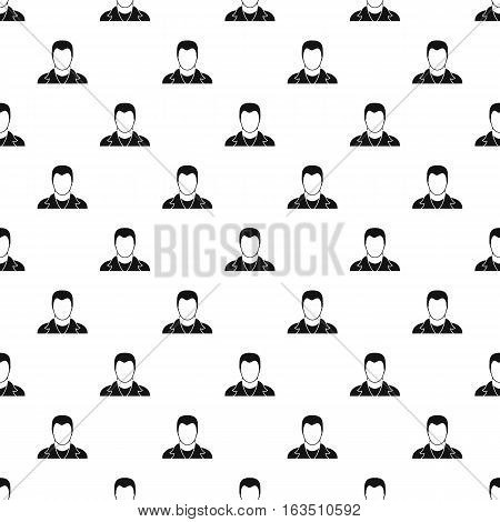 Young man with haircut avatar pattern. Simple illustration of young man with haircut avatar vector pattern for web