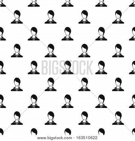 Woman with bangs avatar pattern. Simple illustration of woman with bangs avatar vector pattern for web
