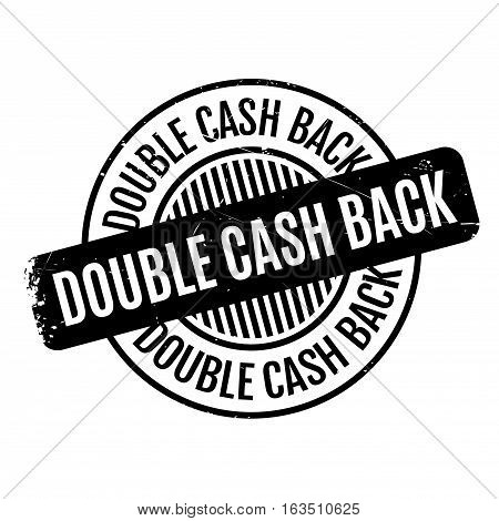 Double Cash Back rubber stamp. Grunge design with dust scratches. Effects can be easily removed for a clean, crisp look. Color is easily changed.