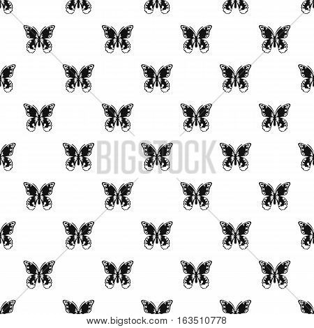 Butterfly with ornament on wings pattern. Simple illustration of butterfly with ornament on wings vector pattern for web