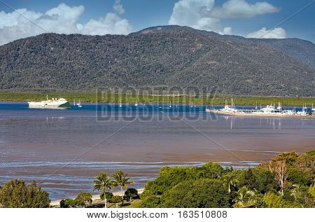 view of Cairns habour in Queensland Australia