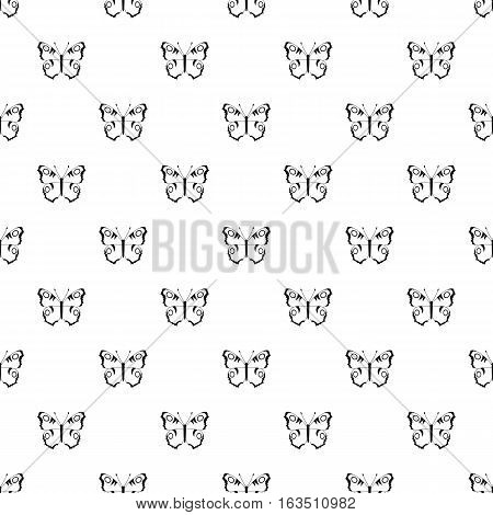 Butterfly with spots on wings pattern. Simple illustration of butterfly with spots on wings vector pattern for web