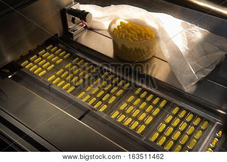 Capsules In Packaging Process