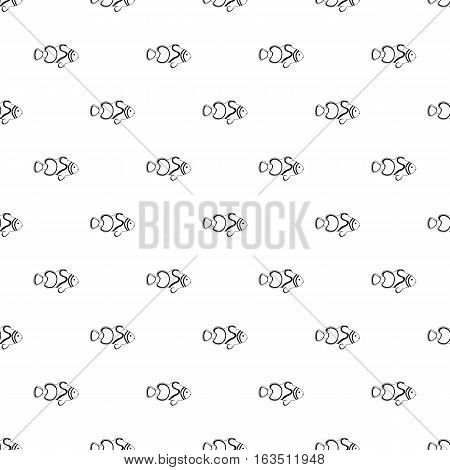 Clown fish pattern. Simple illustration of clown fish vector pattern for web