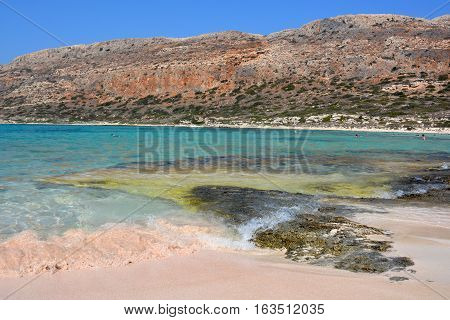 Beautiful Balos lagoon. Amazing place on Crete, Greece