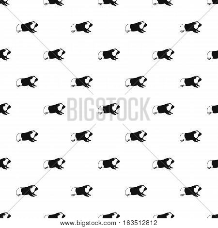 Hamster pattern. Simple illustration of hamster vector pattern for web