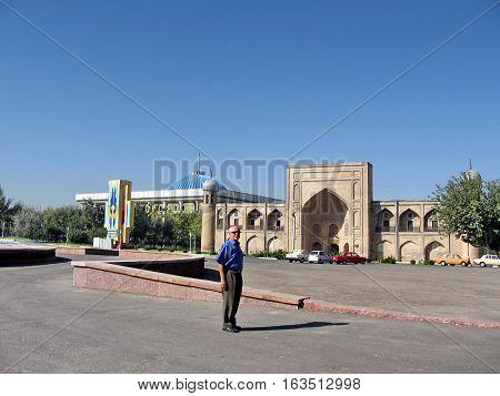 Tashkent Uzbekistan - September 12 2007: View of Almazar Madrassah.