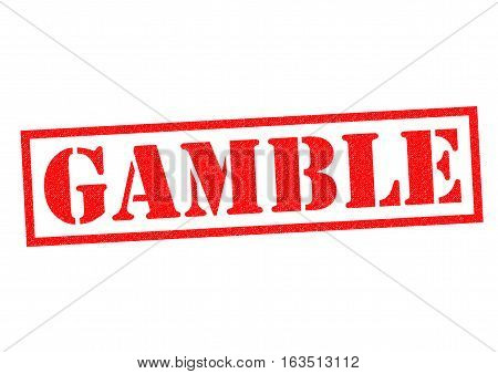 GAMBLE red Rubber Stamp over a white background.