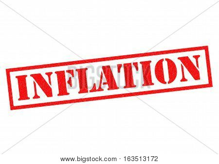 INFLATION red Rubber Stamp over a white background.