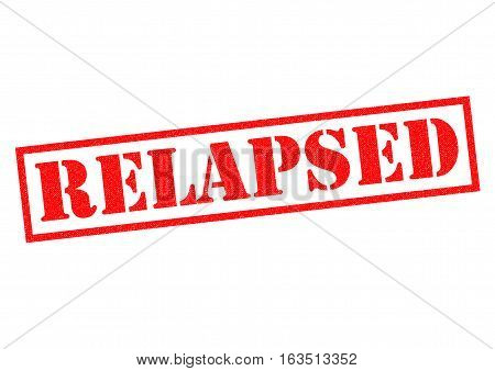 RELAPSED red Rubber Stamp over a white background.