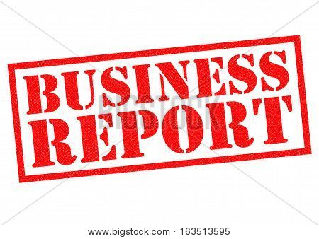 BUSINESS REPORT red Rubber Stamp over a white background.