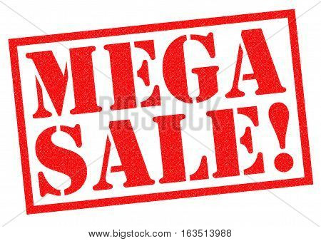 MEGA SALE! red Rubber Stamp over a white background.