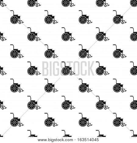 Wheelchair pattern. Simple illustration of wheelchair vector pattern for web