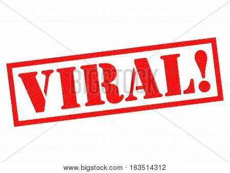 VIRAL! red Rubber Stamp over a white background.