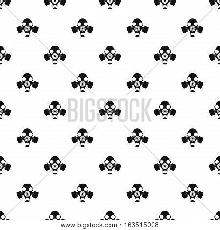 Gas mask pattern. Simple illustration of gas mask vector pattern for web