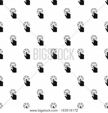 Cursor hand clicks pattern. Simple illustration of cursor hand clicks vector pattern for web