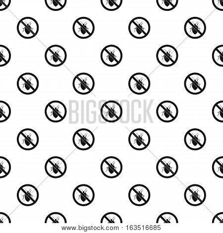 Prohibition sign chinch pattern. Simple illustration of prohibition sign chinch vector pattern for web