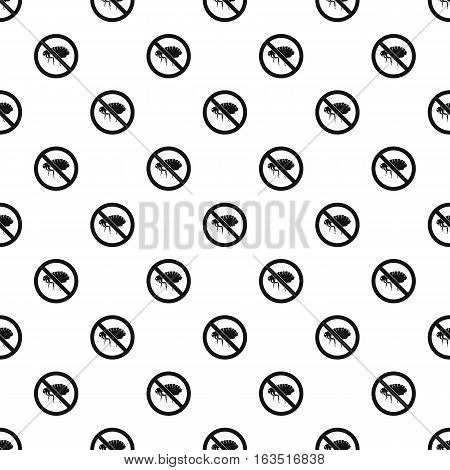 Prohibition sign fleas pattern. Simple illustration of prohibition sign fleas vector pattern for web