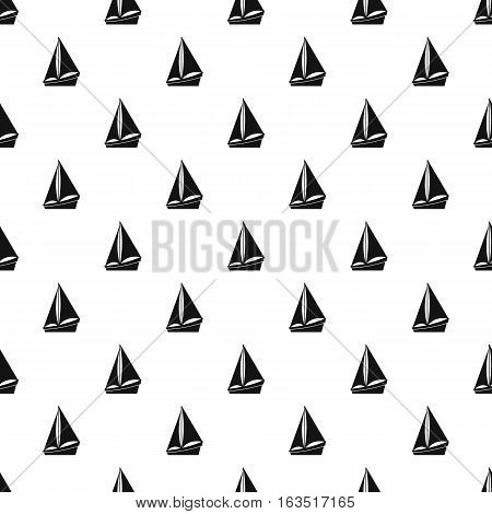 Small yacht pattern. Simple illustration of small yacht vector pattern for web