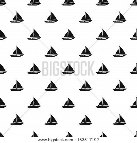 Sailing yacht pattern. Simple illustration of sailing yacht vector pattern for web