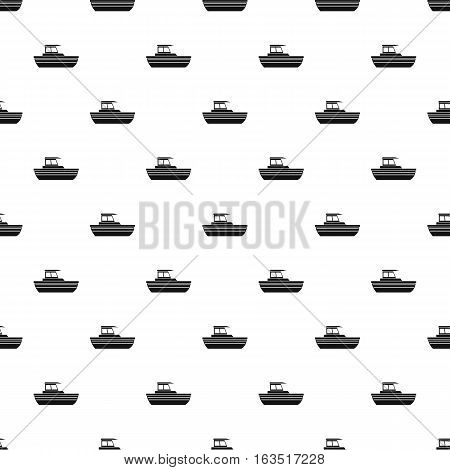 Motor boat pattern. Simple illustration of motor boat vector pattern for web