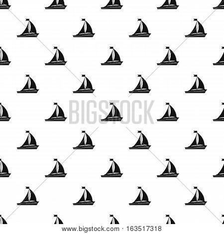 Sailing ship pattern. Simple illustration of sailing ship vector pattern for web