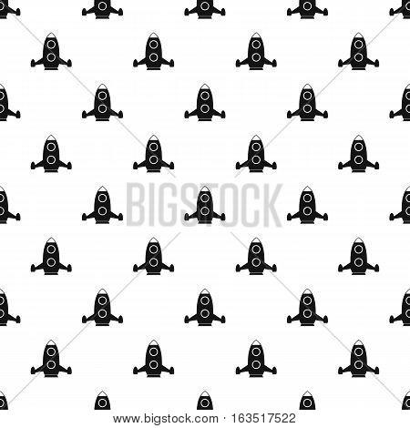 Rocket flies pattern. Simple illustration of rocket flies vector pattern for web