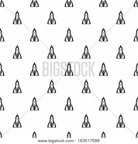 Ballistic rocket pattern. Simple illustration of ballistic rocket vector pattern for web