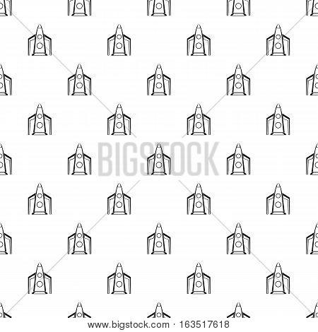 Rocket for space flight pattern. Simple illustration of rocket for space flight vector pattern for web
