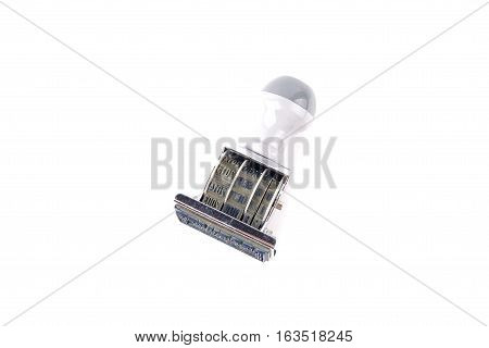 Date Months Years Stamper Isolated On White Background