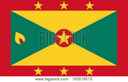 The Official vector flag of Grenada .
