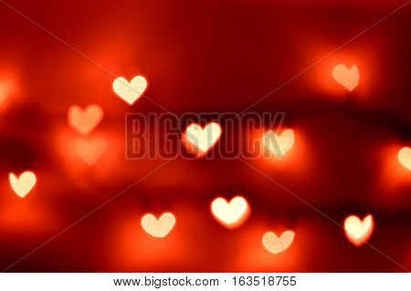 Bokeh Lights, Heart Shapes
