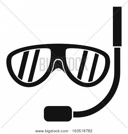 Swimming mask icon. Simple illustration of swimming mask vector icon for web