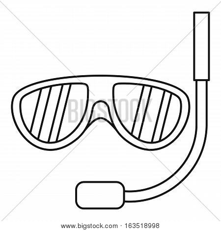 Swimming mask icon. Outline illustration of swimming mask vector icon for web