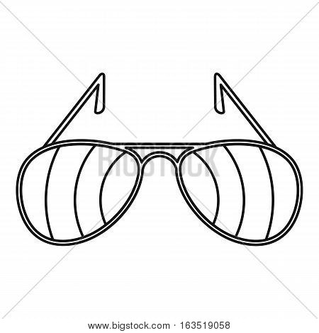 Sunglasses icon. Outline illustration of sunglasses vector icon for web