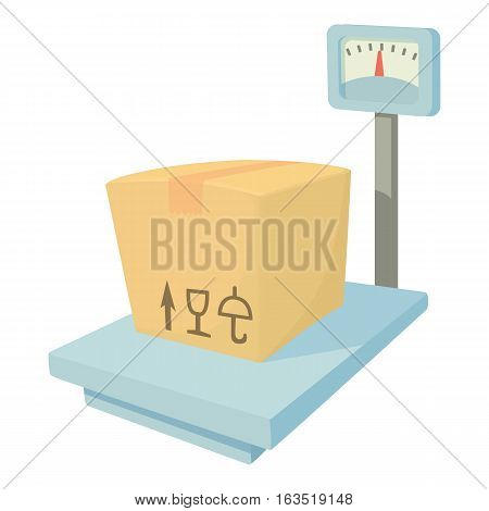 Storage scales icon. Cartoon illustration of storage scales vector icon for web