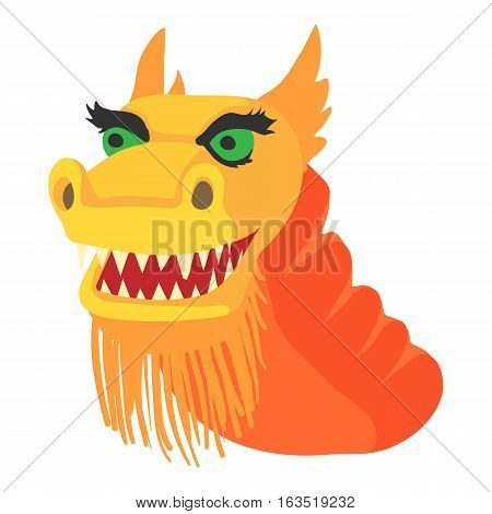 Chinese dragon icon. Cartoon illustration of chinese dragon vector icon for web