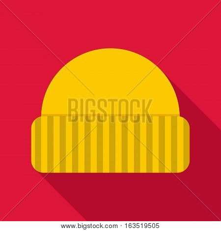 Warm hat icon. Flat illustration of warm hat vector icon for web