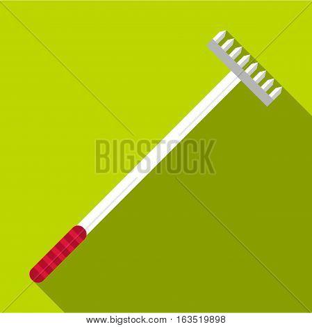 Big rake icon. Flat illustration of big rake vector icon for web