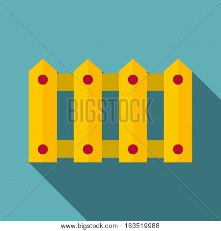 Fence icon. Flat illustration of fence vector icon for web